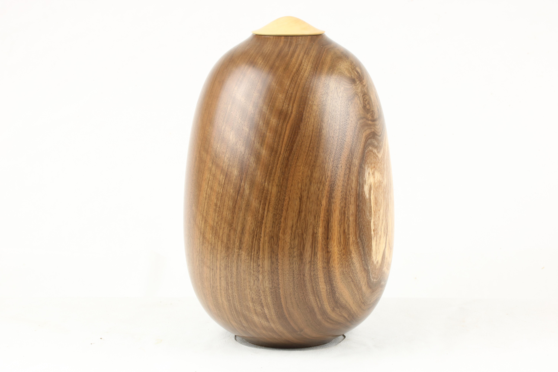 English Walnut & Boxwood Single urn