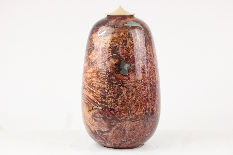 Coloured Maple Burr & Pewter