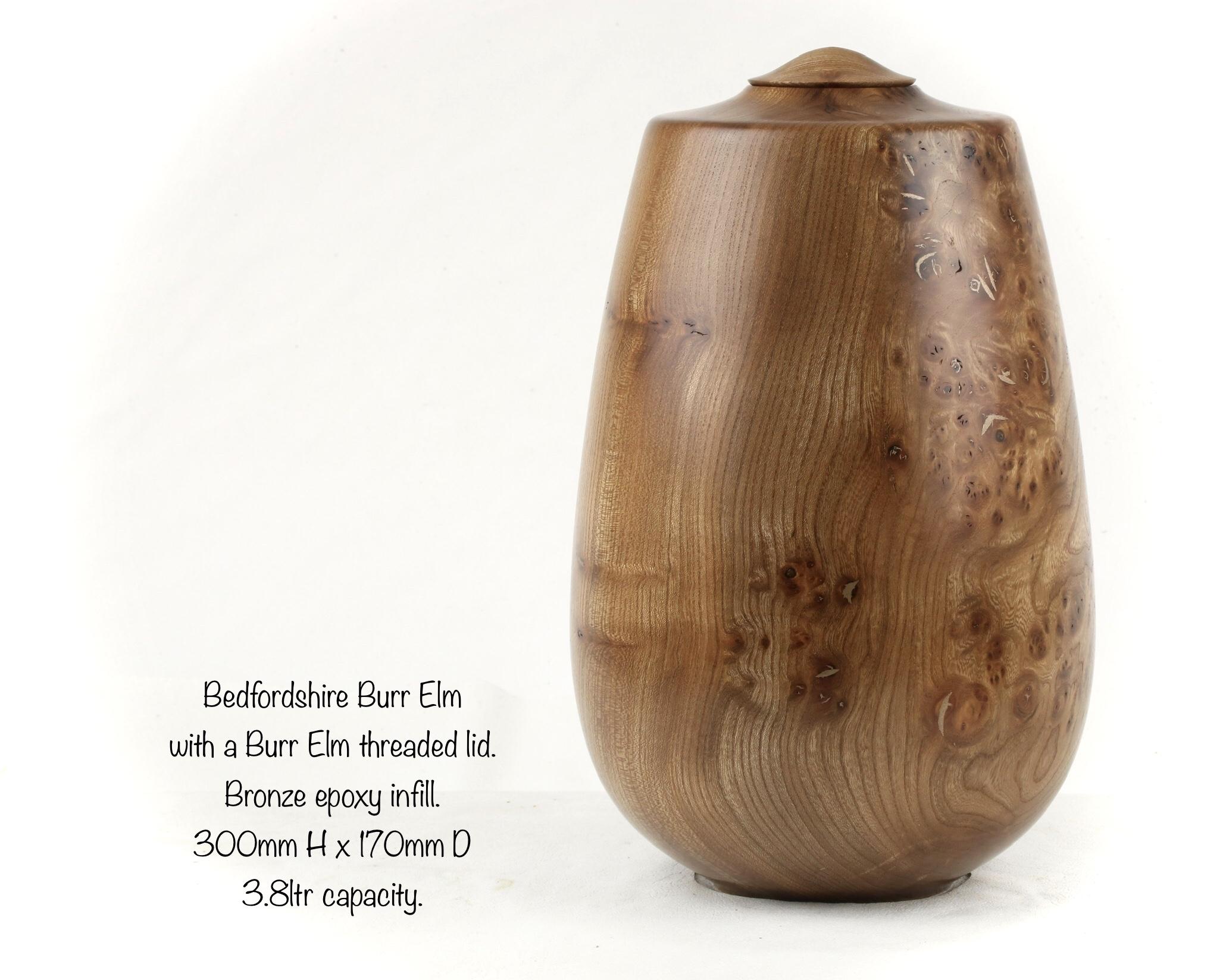 Large Burr Elm Single Urn