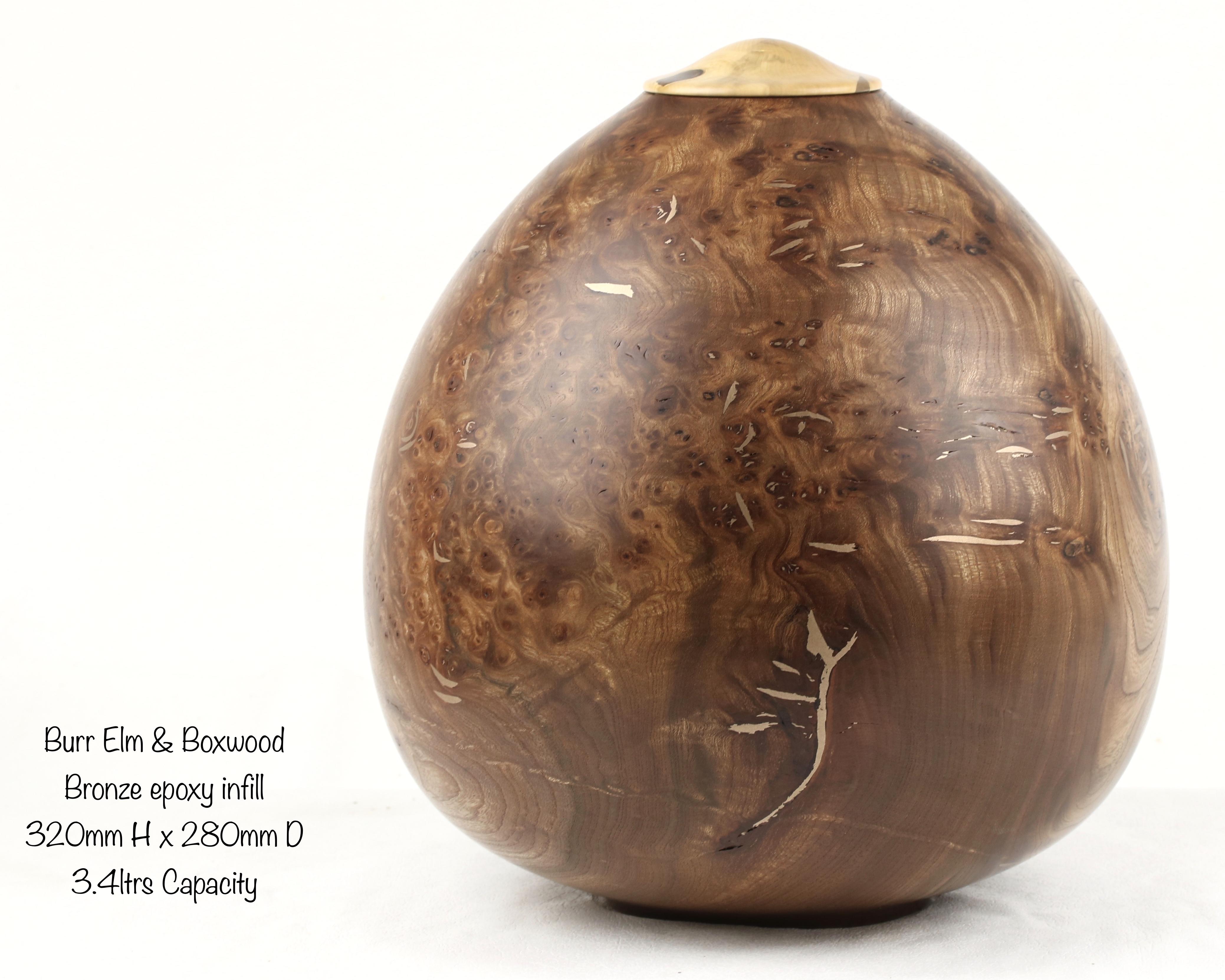 Burr Elm & Boxwood with Bronze Epoxy