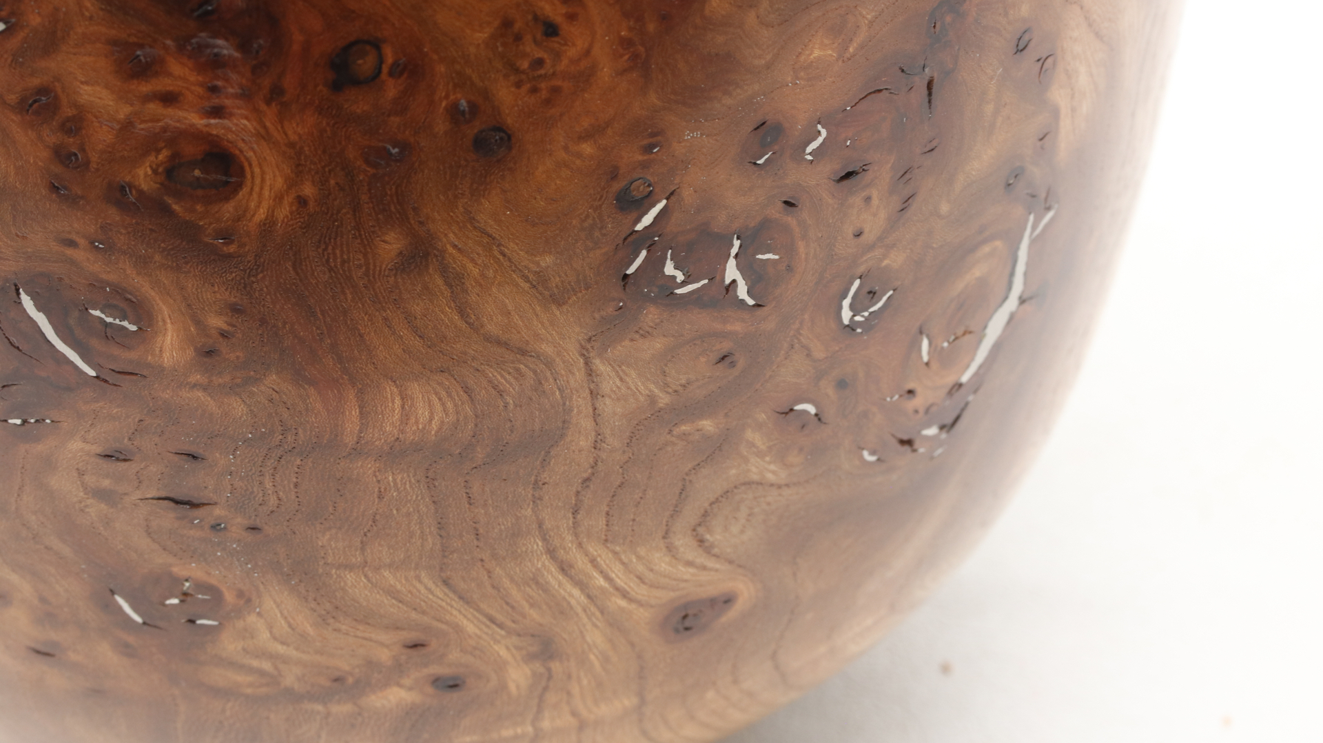 Burr Elm with Pewter Infill