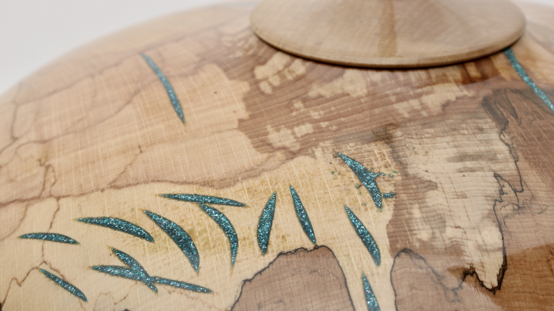 Spalted Beech, Turquoise Epoxy & Holly