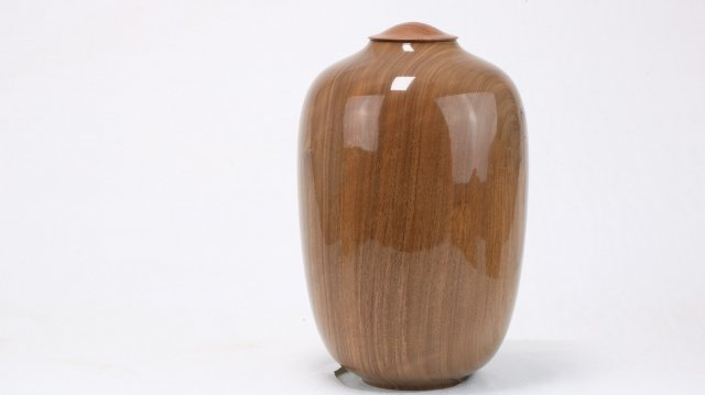 English Walnut & Elm Single Urn