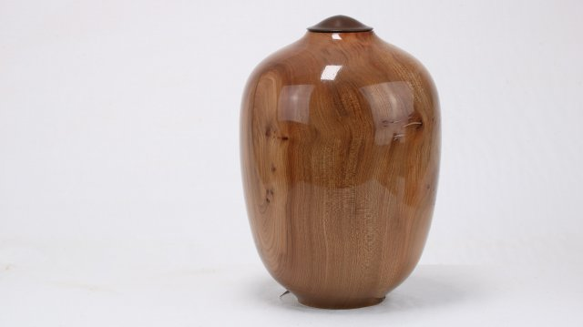 Burr Elm & Copper Epoxy Single UrnBurr Elm & Copper Epoxy Single Urn
