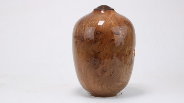Burr Elm & Copper Epoxy Single Urn