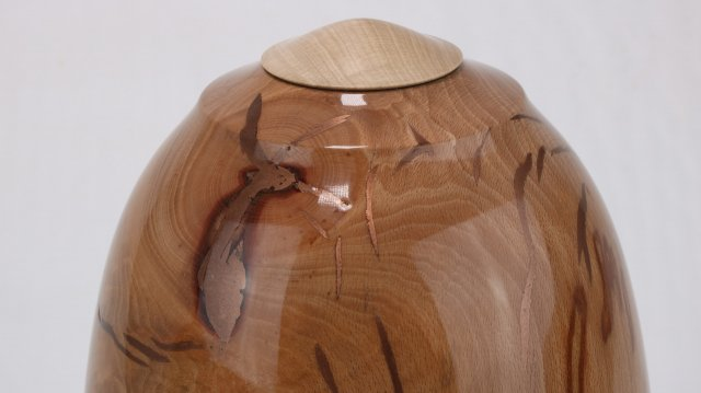 Beech Crotch with Copper Epoxy. Single Urn