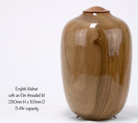 English Walnut & Elm Single Urn